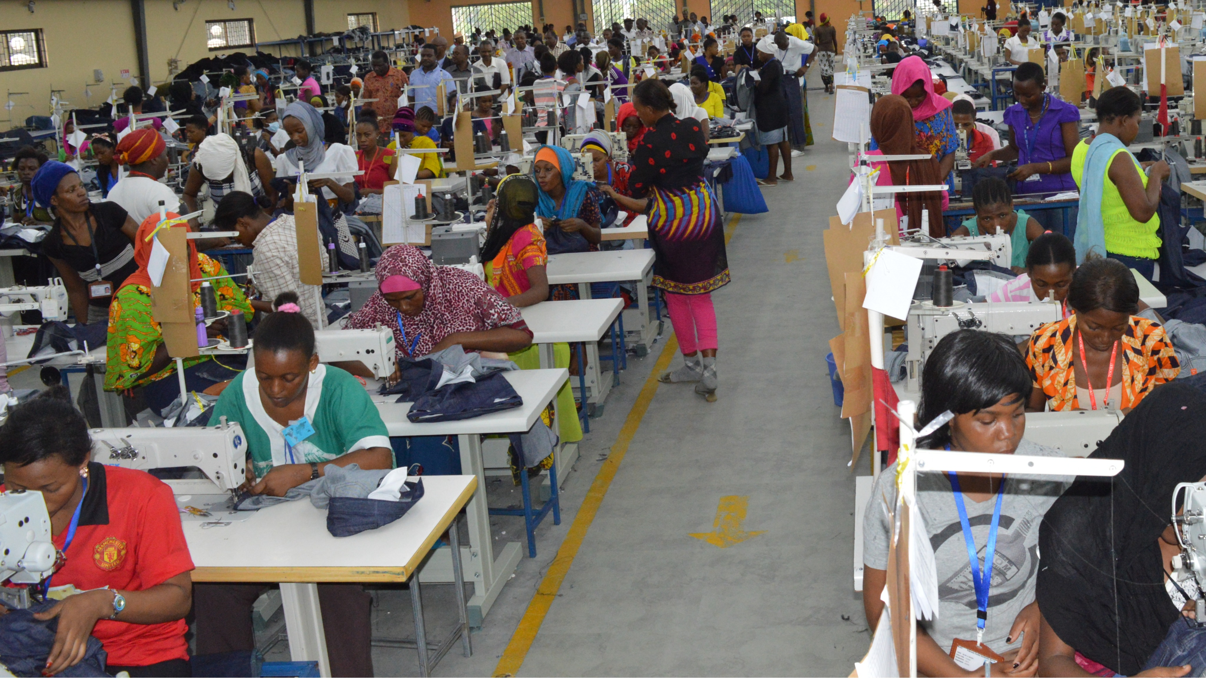 One of the Textile Manufacturing Centre at BWM, Dar es Salaam
